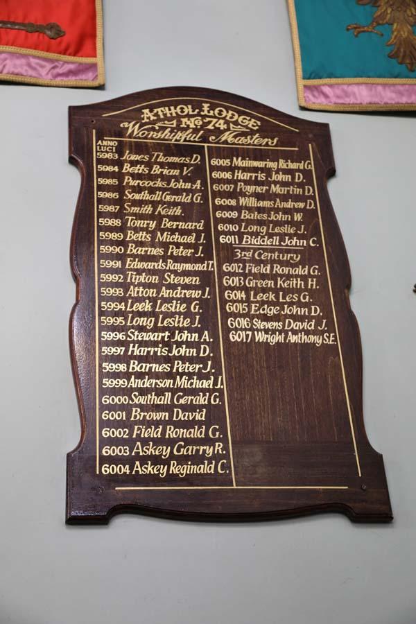 Athol past master boards